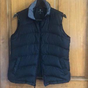 Land's End Black Down Feather Vest Size M 10-12